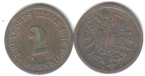 Umlaufmünzen Deutsches Reich 2 Pf Kaufen Seba Berlin