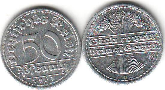 Umlaufmünzen Deutsches Reich 50 Pf Kaufen Seba Berlin