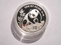 Foto China-M�nzen: Panda Silberunze 1990